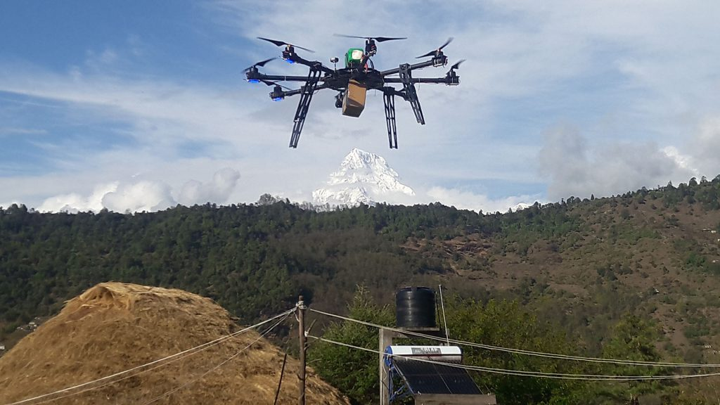 A drone developed in Nepal for medicine delivery