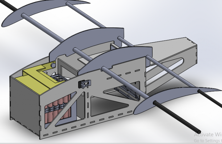 Fixed Wing Drone assembly and stress analysis