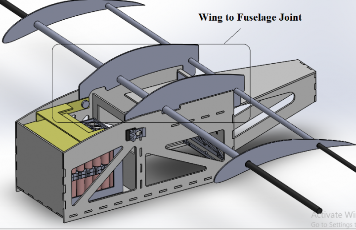 Stress Analysis of Joint between Fuselage and Wing