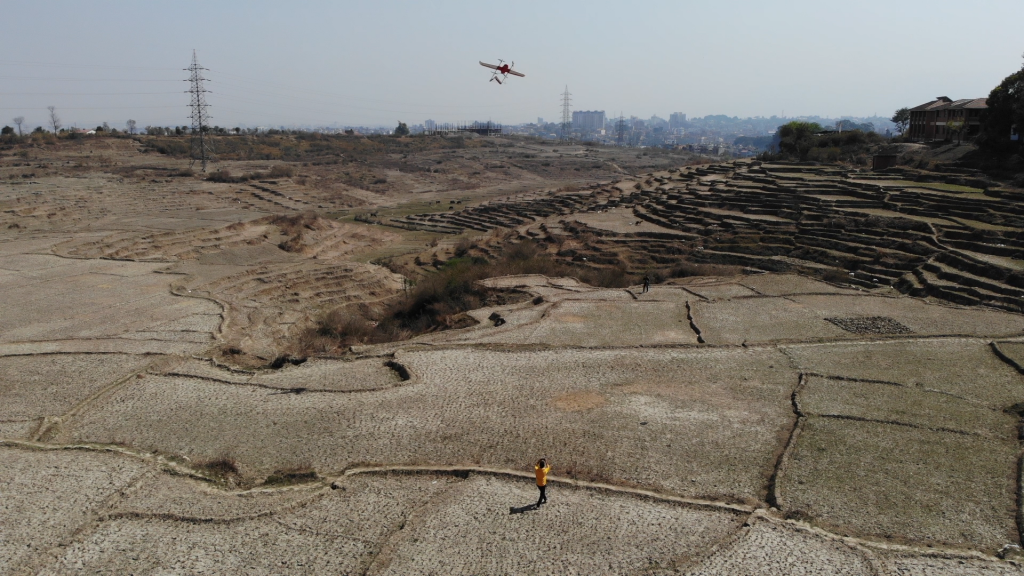 drone flight test by prokura innovations on the surface of nepal